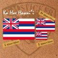 ハワイ州の旗ステッカー