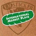 """ハワイアンステッカー""""International Market Place"""""""