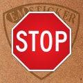 """アメリカンステッカー道路標識型""""STOP""""S"""