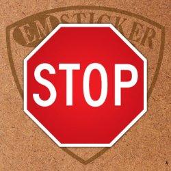 """画像1: アメリカンステッカー道路標識型""""STOP""""L"""
