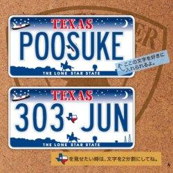 画像1: オリジナルステッカー アメリカ テキサスナンバープレート (S)【文字入れ無料】